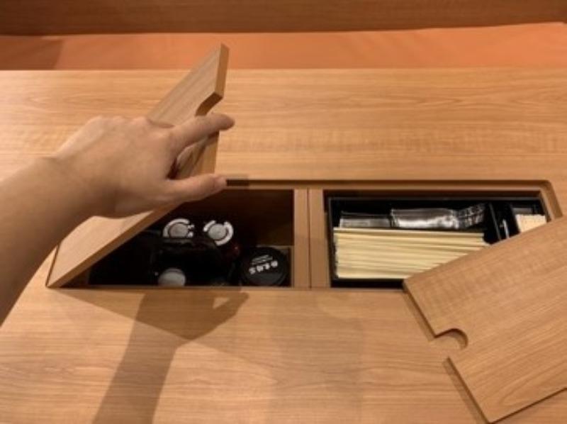 テーブル収納イメージ
