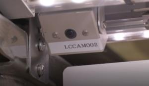 レーンに設置されたカメラ