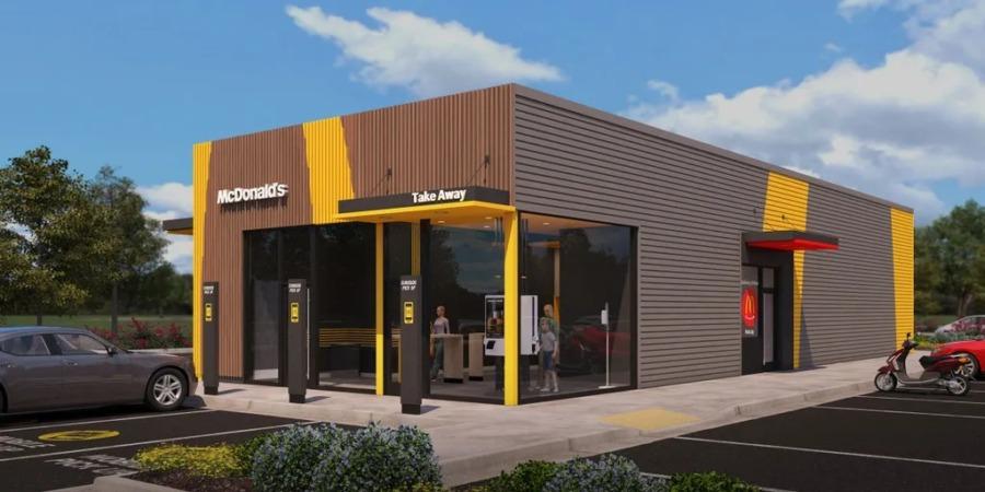 ドライブスルーとテイクアウトに特化したマクドナルドの新型店舗