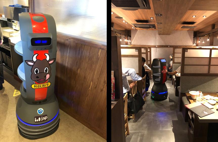 焼肉のワタミの配膳ロボット「PEANUTS」
